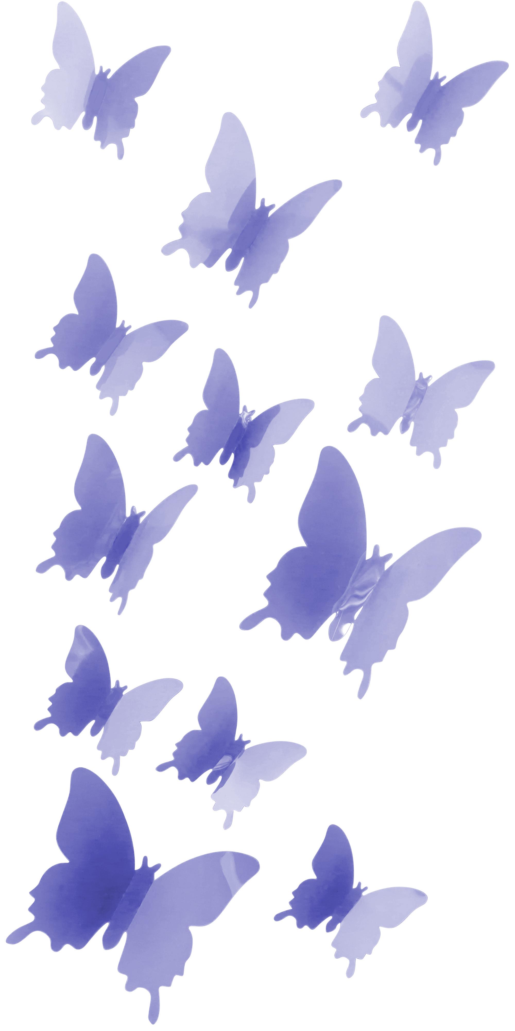 Schmetterlinge in 3d wandsticker wand dekoration deko for Foto dekoration wand